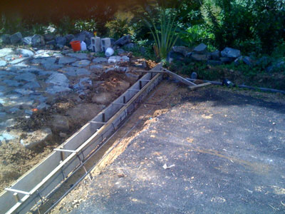 driveway grate and drain out of concrete and steel