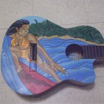 Painted Guitar art by Jeremiah Blakley - $100