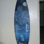 Blues surfboard art by Jeremiah Blakely - $550