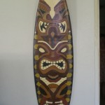 Tiki Gods surfboard art by Jeremiah Blakely - $150